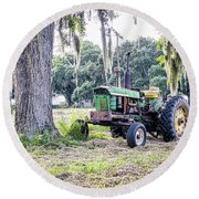 John Deer - Work Day Round Beach Towel