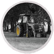 John Deere 620 In Selective Color Round Beach Towel