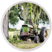 John Deere - Hay Day Round Beach Towel