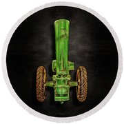 Round Beach Towel featuring the photograph John Deere Top On Black by YoPedro