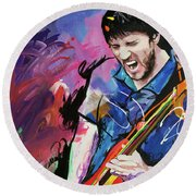 John Frusciante Round Beach Towel by Richard Day