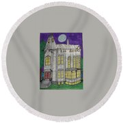 John Henes Home. Round Beach Towel