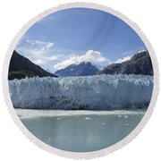 John Hopkins Glacier 14 Round Beach Towel