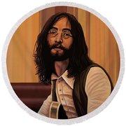 John Lennon Imagine Round Beach Towel