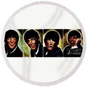 John, Paul, George And Ringo Round Beach Towel