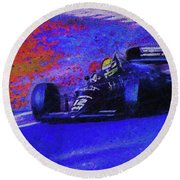 Round Beach Towel featuring the mixed media John Player Special by Marvin Spates