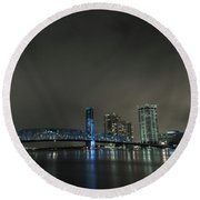 John T. Alsop Bridge 2 Round Beach Towel
