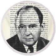 John Von Neumann Round Beach Towel
