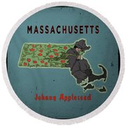 Johnny Appleseed Round Beach Towel