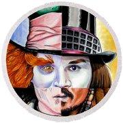 Johnny Depp's Greatest Round Beach Towel