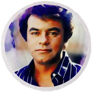 Johnny Mathis, Music Legend Round Beach Towel