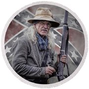 Johnny Reb Round Beach Towel