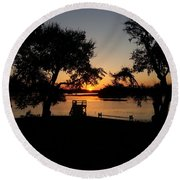 Round Beach Towel featuring the photograph Johns Island Sunset by Robert Knight