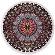 Round Beach Towel featuring the painting John's Star by Kym Nicolas
