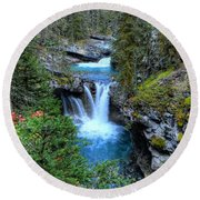 Johnston Canyon Falls Hike Lower Falls Round Beach Towel