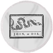 Join Or Die Round Beach Towel