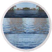 Round Beach Towel featuring the photograph Joiner Sea by Ana Mireles