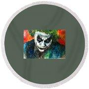 Joker - Heath Ledger Round Beach Towel