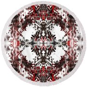 Round Beach Towel featuring the digital art Jokers Wild by Reed Novotny