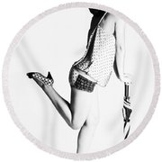 Jolley Pinup Round Beach Towel