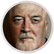 Jon Lord Deep Purple Portrait 8 Round Beach Towel