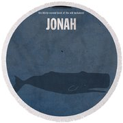 Jonah Books Of The Bible Series Old Testament Minimal Poster Art Number 32 Round Beach Towel