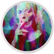 Joni Mitchell Round Beach Towel