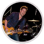 Jonny Lang Rocks His 1958 Les Paul Gibson Guitar Round Beach Towel