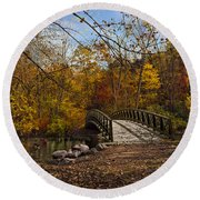 Jordan Park Bridge Round Beach Towel by Judy Johnson