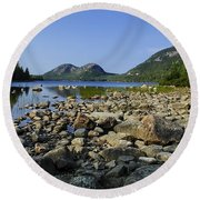 Jordan Pond No.1 Round Beach Towel