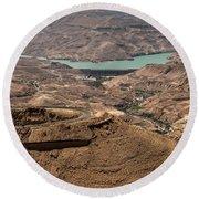 Round Beach Towel featuring the photograph Jordan River by Mae Wertz