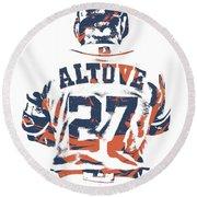 Jose Altuve Houston Astros Pixel Art 10 Round Beach Towel