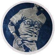 Jose Bautista Toronto Blue Jays Art Round Beach Towel