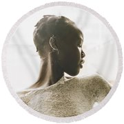 Round Beach Towel featuring the photograph Josephine by Rebecca Harman