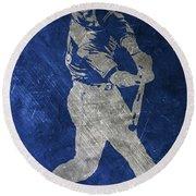 Josh Donaldson Toronto Blue Jays Art Round Beach Towel