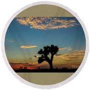 Joshua Sunset Round Beach Towel