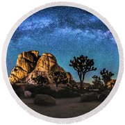 Joshua Tree Milkyway Round Beach Towel
