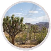 Joshua Tree National Park Round Beach Towel