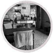 Josie's Kitchen Havana Cuba Round Beach Towel