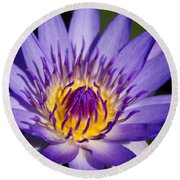 Journey Into The Heart Of Love Round Beach Towel