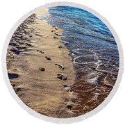 Round Beach Towel featuring the photograph Journey by Kendall McKernon