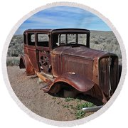 Round Beach Towel featuring the photograph Journey's End by Gary Kaylor