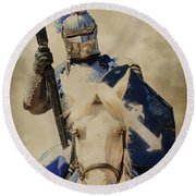 Round Beach Towel featuring the photograph Jousting by Steve McKinzie