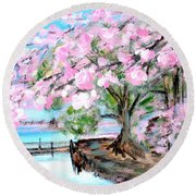 Joy Of Spring. For Sale Art Prints And Cards Round Beach Towel