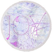 Joy River Round Beach Towel