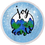 Joy To The World Round Beach Towel
