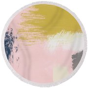 Jubilee Mix 3- Abstract Art By Linda Woods Round Beach Towel