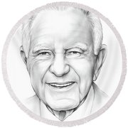 Judge Wapner Round Beach Towel