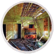 Round Beach Towel featuring the photograph Judith Gap Piano by Craig J Satterlee