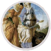 Judith With The Head Of Holofernes Round Beach Towel